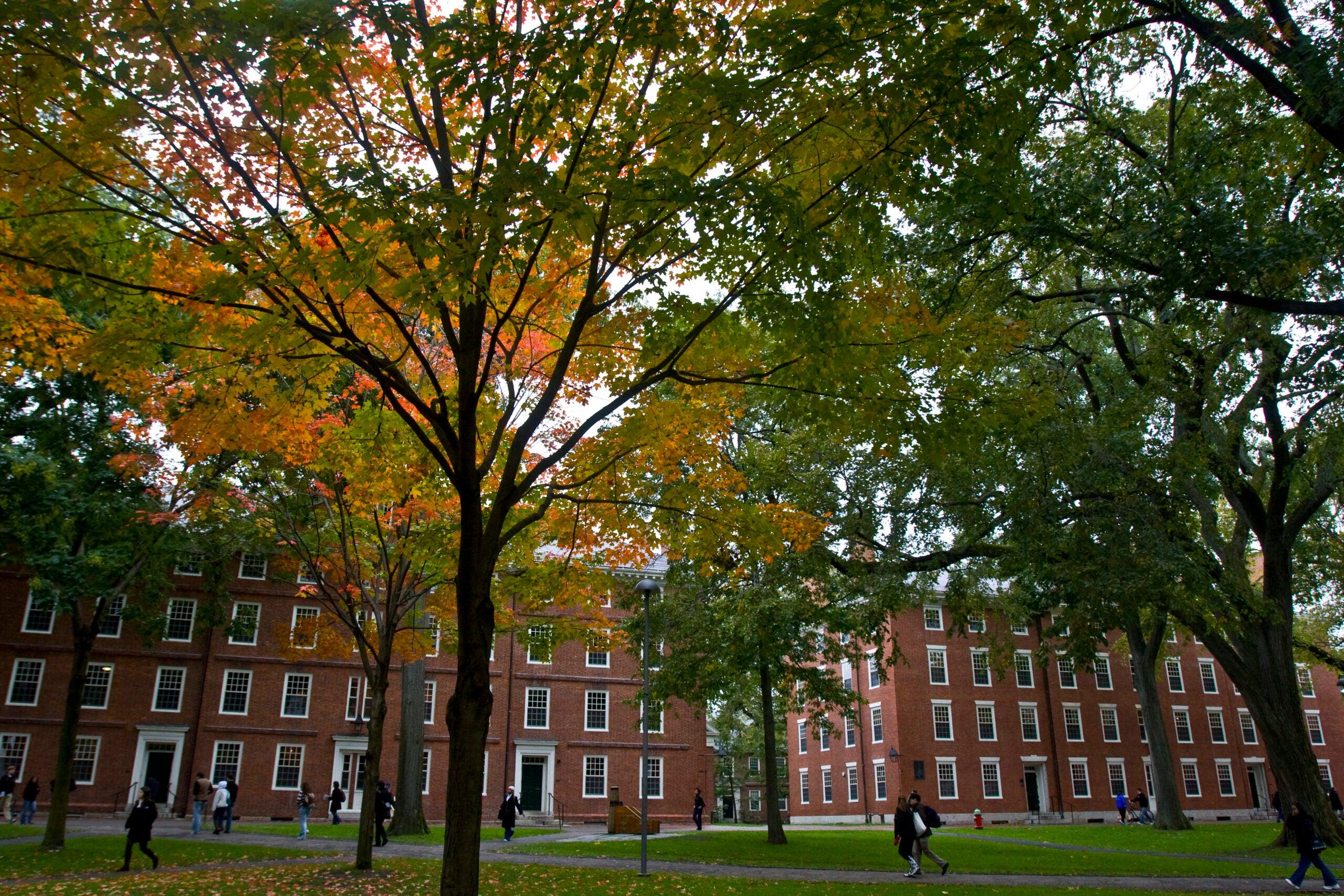 The dorms in Harvard Yard