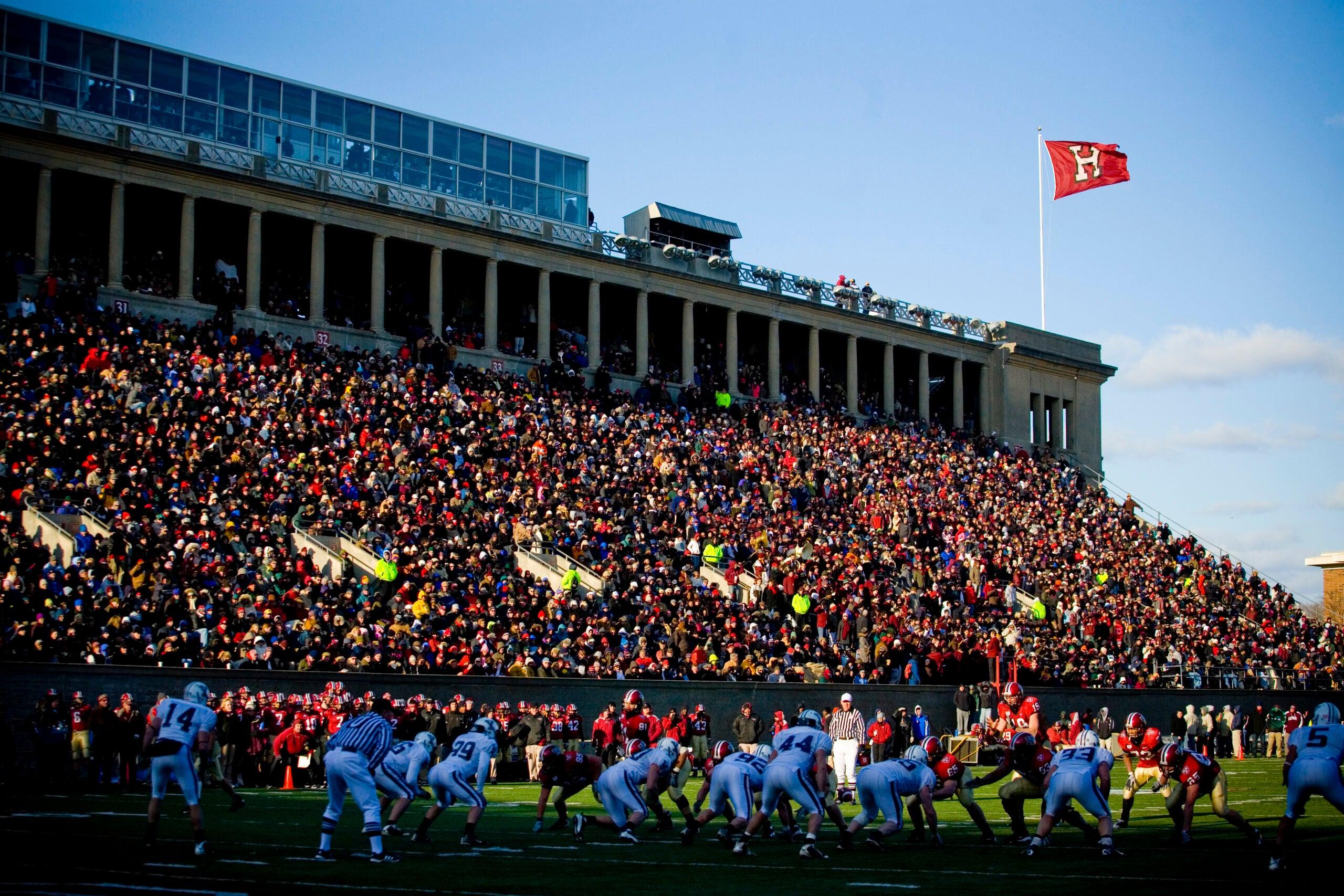 A big crowd at Harvard stadium