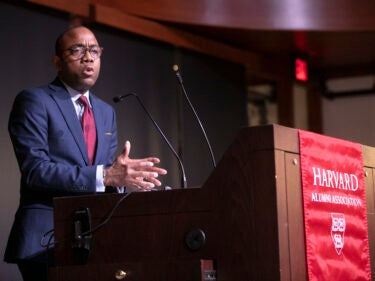 Cornell William Brooks talking at a podium