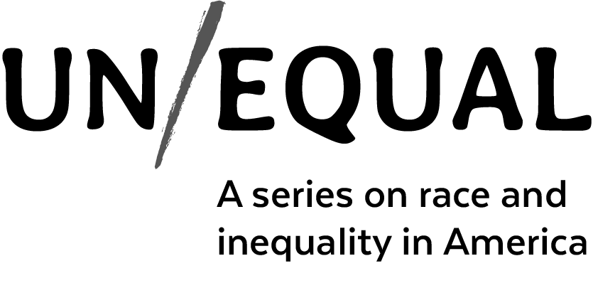 a logo that says unequal a series on race and inequality in America