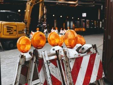 Some street construction blockades