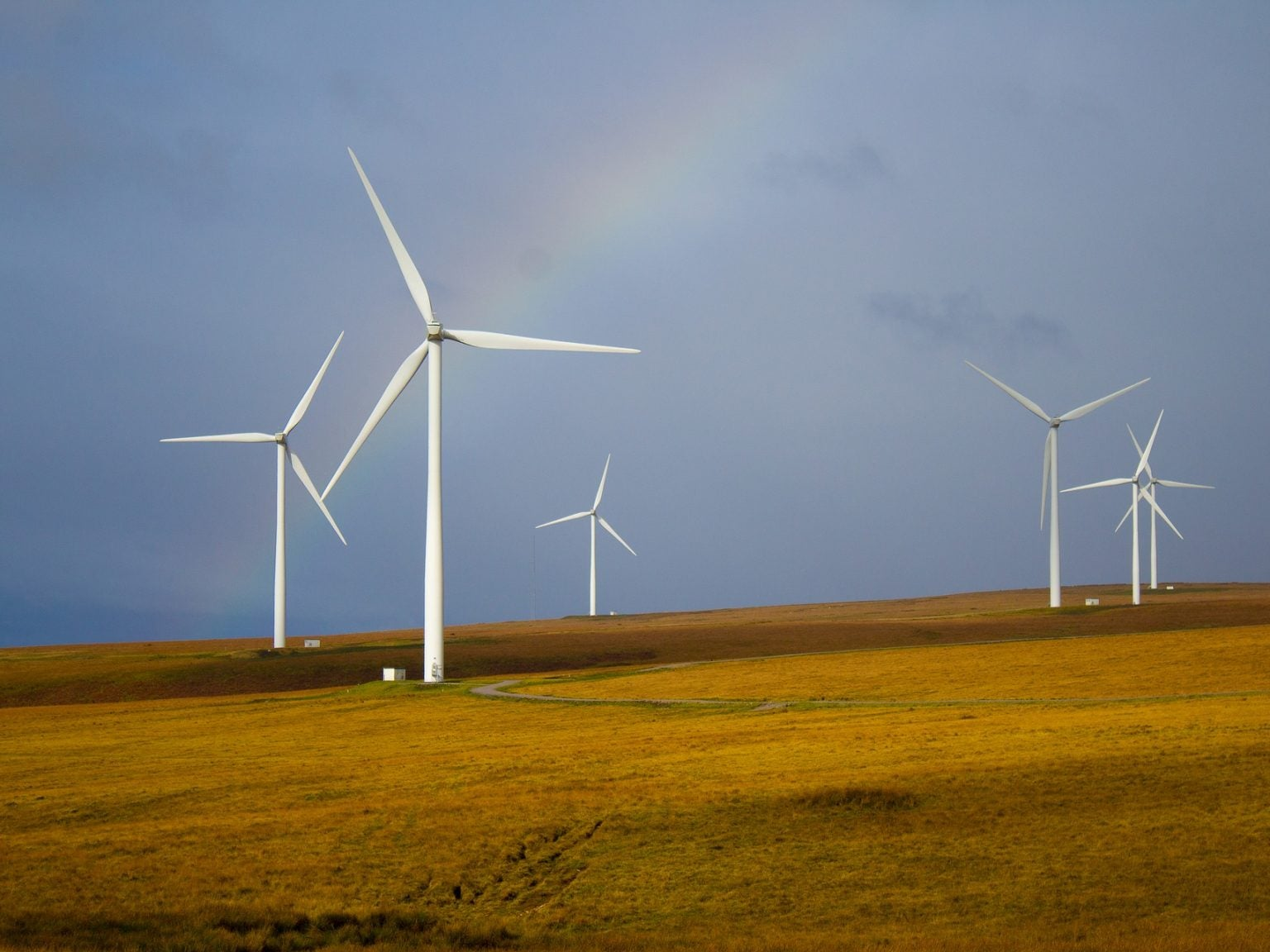 Windmills, but those big metal ones