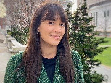 Krissy Lyon smiling outside