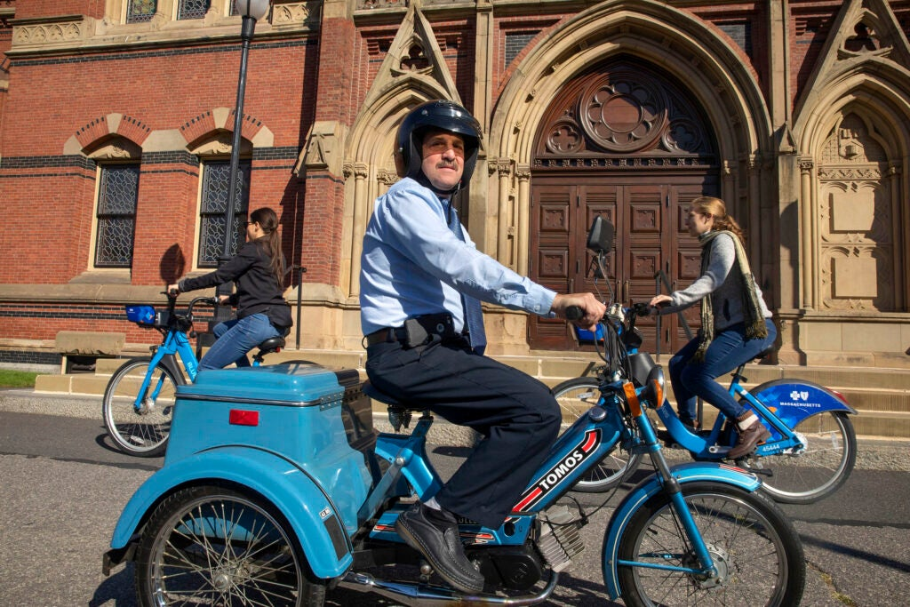 A man on a moped