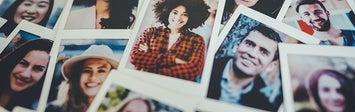 Polaroids of people.